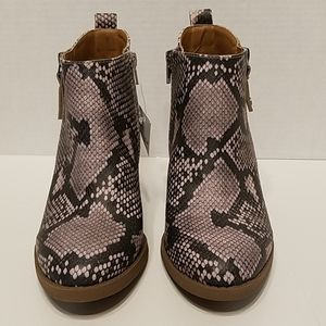 Universal Thread Faux Snakeskin Ankle Boots